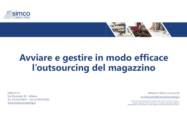 Avviare e gestire in modo efficace l'outsourcing del magazzino [Video